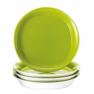 Rachael Ray Dinnerware Round & Square 4-Piece Stoneware Salad Plate Set