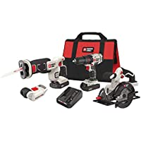Porter-Cable PCCK616L4R 20V Max Cordless Lithium-Ion 4-Tool Combo Kit (Certified Refurbished)