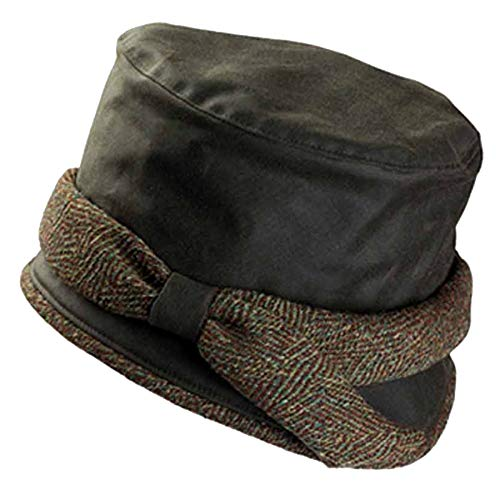 792151563 Olney Laurie Waxed Cotton Waterproof Hat - Olive