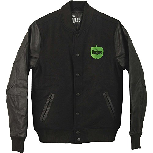 Beatles Men's Drop T Logo Varsity Jacket X-Large Black by Beatles