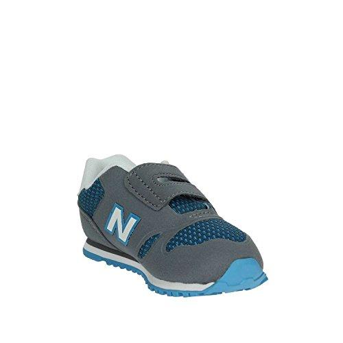 New Balance NBKA373GGI Scarpa Velcro Kind Grau/Himmelblau