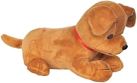 Funny Land Labrador Puppy Plush Toy (Brown, 25 cm)