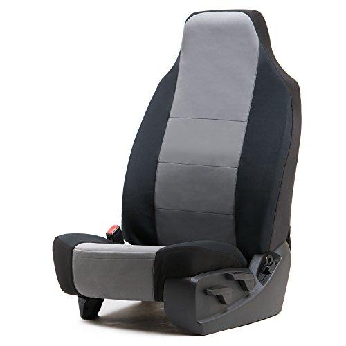UPC 817772020644, Charcoal Genuine Neoprene High Back Bucket Seat Cover