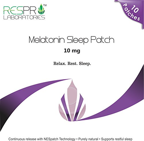 Respro Labs Natural Melatonin Patch Sleep Aid, 10 mg Continuous Release