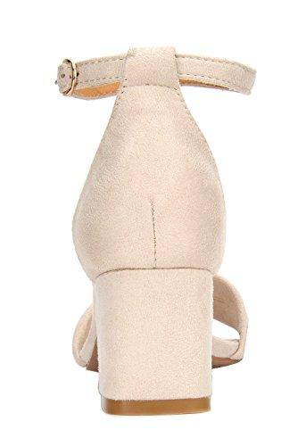 Women's Block Heeled Fashion DUCHESS NUDE 03 PAIRS DREAM Sandals 5wqIOUFc