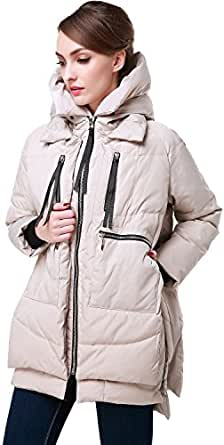 Orolay Women's Thickened Down Jacket Beige 2Xs