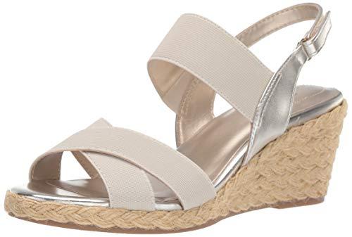 (Bandolino Women's Hearsay Wedge Sandal, Gold, 8.5 Medium US)