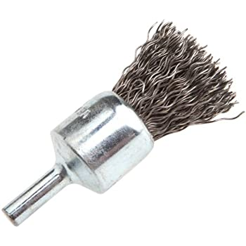 1-Inch Coarse Crimped Wire with 1//4-Inch Shank Forney 60001 End Brush