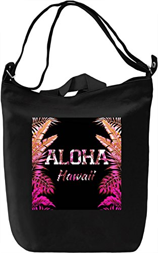 Aloha Borsa Giornaliera Canvas Canvas Day Bag| 100% Premium Cotton Canvas| DTG Printing|