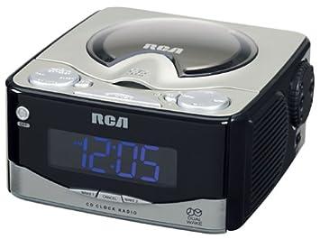 Amazon Com Rca Rp4801 Am Fm Dual Wake Cd Clock Radio Discontinued