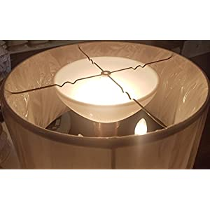 B&P Lamp 10″ I.E.S Opal Glass Reflector Shade for Floor Lamps and Mogul Sockets – Sets Underneath The Floor Lamp Shade
