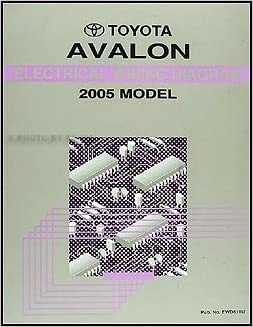 2005 toyota avalon factory electrical wiring diagram service manual:  toyota: amazon com: books