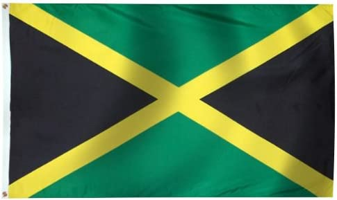 Amazon Com Shopzeus Jamaica Flag Polyester 3 Ft X 5 Ft Jamaican Flag Garden Outdoor