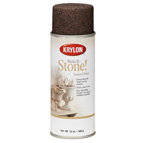 Stone Texture Finish Spray Paint, Black Granite, 12 Ounce (Black Granite Stone)