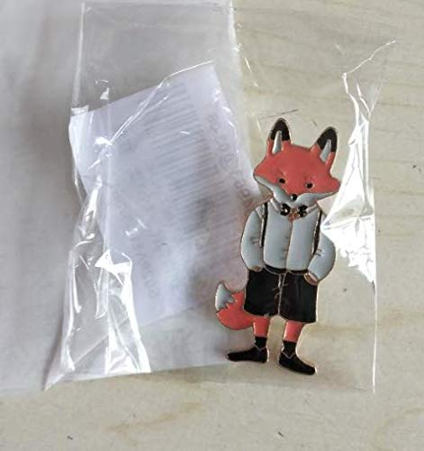 Wansan Brooch Mr. Fox Animal Boutonniere for Women Neck Tie Christmas Silk Scarf Brooches Pin Collar Jewelry for Women Girls