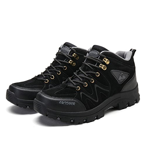 Waterproof Women's Hiking Trekking Sneaker Men's Shoes Shoes Breathable Outdoor Black Low Lightweight Leather ZCBBzTwdq
