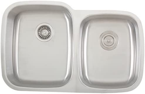 PHOENIX 32-1 4 Stainless Steel Undermount 18 Gauge Kitchen Sink