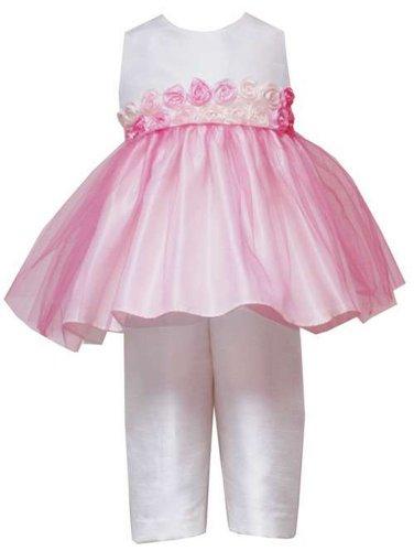 Capris Pink Editions Rare (Infant Girl's Pink Organza White Capri Set (12 months))