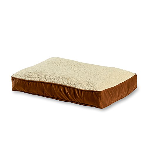 Happy Hounds Buster Medium 30 by 42-Inch Dog Bed, Latte/Sherpa