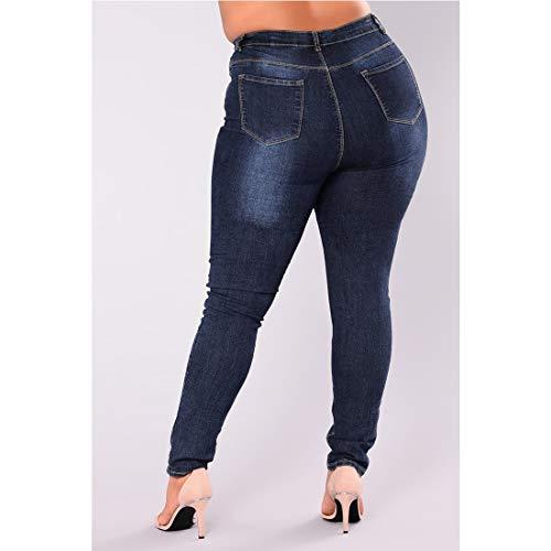 Taille Blue Skinny en Dark Size Stretch Jeans Jean 2XL Dark mi Color Haute Blue MARFELICIA wqXBvUS1xS