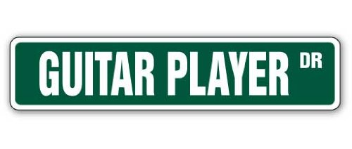 GUITAR PLAYER Street Sign band case pick rock roll| Indoor/Outdoor | 18