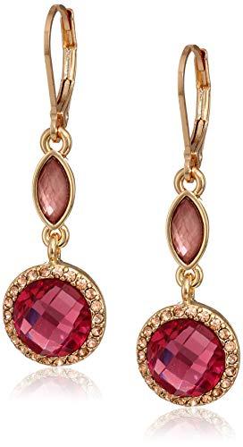 Earrings Anne Tone Klein Gold (Anne Klein Women's Gold Tone Black Stone Leverback Drop Earrings, Size: 0)