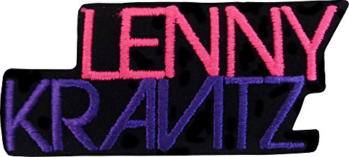 Lenny Kravitz - Purple & Pink Logo - Embroidered Iron On or Sew On Patch