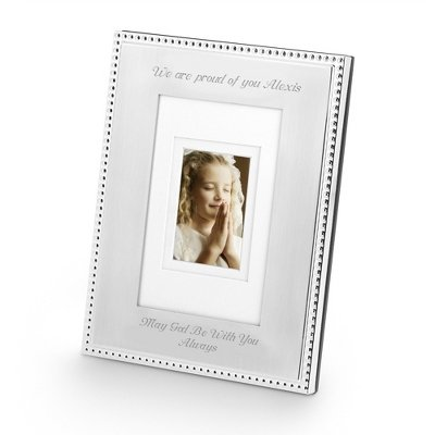 Things Remembered Personalized Silver Beaded 5 x 7 Portrait Frame, Picture Frame with Engraving Included