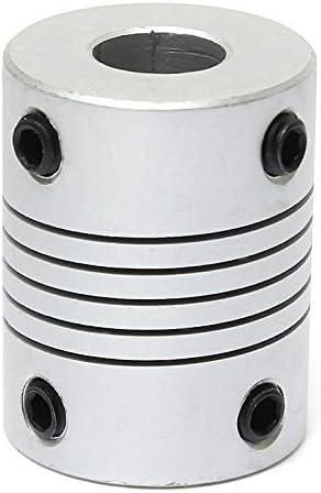 plateado etc plataforma de m/áquina SENRISE Acoplamientos flexibles de eje D19L25 motor paso a paso 5 unidades de acoplamiento flexible de aleaci/ón de aluminio para motor Connect Servo
