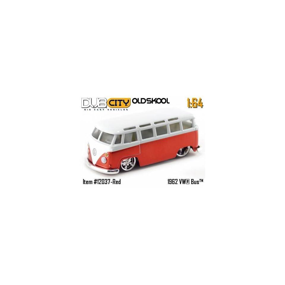 Jada Dub City Oldskool Red & White 1962 VW Bus 164 Scale Die Cast Car