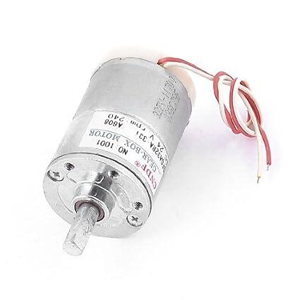 DealMux DFGA32RA-33i Elétrica Cilindro 6 milímetros Dia Shaft DC24V 240rpm engrenagem Motor