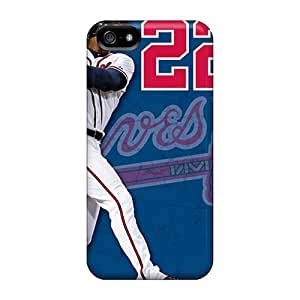 Protection Case For Iphone 5/5s / Case Cover For Iphone(atlanta Braves)