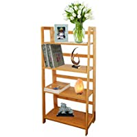 Timber Valley Multi-functional 4 Tier Bamboo Bookcase