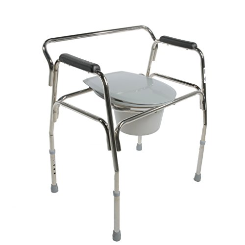 Pcp Heavy Duty Bariatric Commode Toilet with Wide Steel Frame, Chrome by PCP (Image #4)
