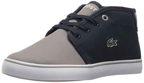 Lacoste Unisex-Kids Ampthill 417 1 Cac Sneaker, Navy/Grey, 11.5. M US Little Kid