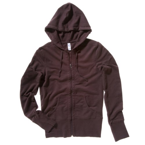 Bella + Canvas - Chaquetilla con capucha modelo French Terry para mujer Marrón chocolate