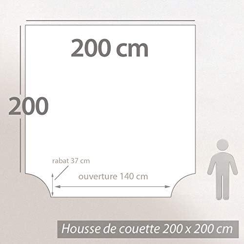 Linnea Housse de Couette 200x200 cm Percale 100/% Coton Elegance Blanc