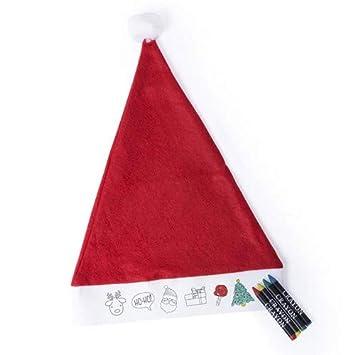 Manualidades Gorros De Navidad.Disok Lote De 20 Gorros De Papa Noel Ninos Infantiles Para