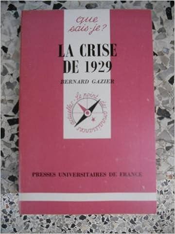 Livres La Crise de 1929 pdf ebook
