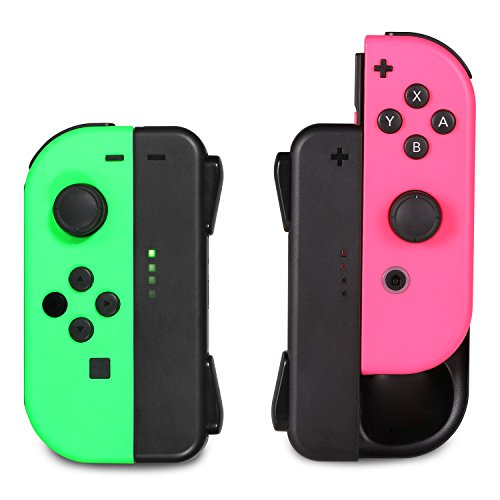 Joy-Con Charging Grip KINGTOP Mini Nintendo Switch Charging Dock Hand Grip  chargerwith Low Battery Reminder and LED Charger I