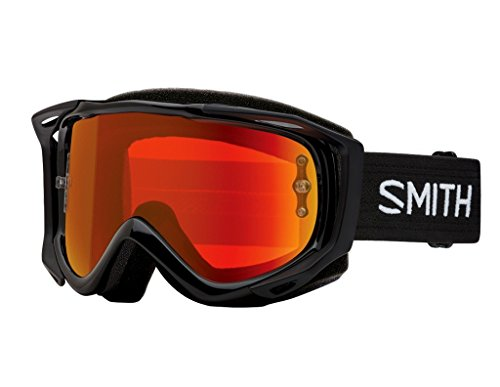 (Smith Optics Fuel V.2 Adult Off-Road Goggles - Black/Chromapop Everyday Red Mirror/One Size)
