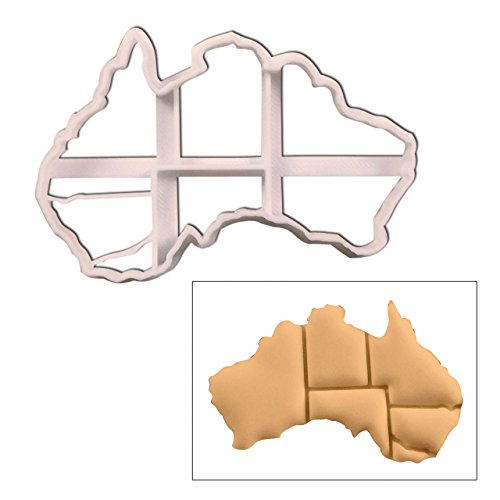 Map of Australian Continent cookie cutter, 1 pc, Ideal for Australia theme party (Continents Cookie Cutters)