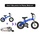 DalosDream – 12X 2-in-1 Balance to Pedal Bike Kit- Balance Bike Set with Steel Frame, Adjustable Handlebar and Seat Ages 3-7 Years