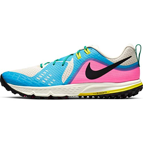 Nike Men's Air Zoom Wildhorse 5 Trail Running Shoes (9.5, Pink/Blue)