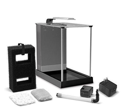 Fluval Spec III Aquarium Kit, 2.6-Gallon, Black