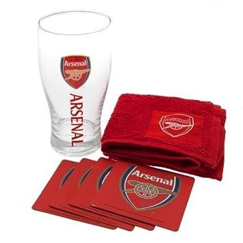 Arsenal FC Pint Glass Mini Bar Set by Arsenal