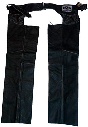 River Road Men Quality Imported Leather Pants Vintage Chap Small New 091800 Black