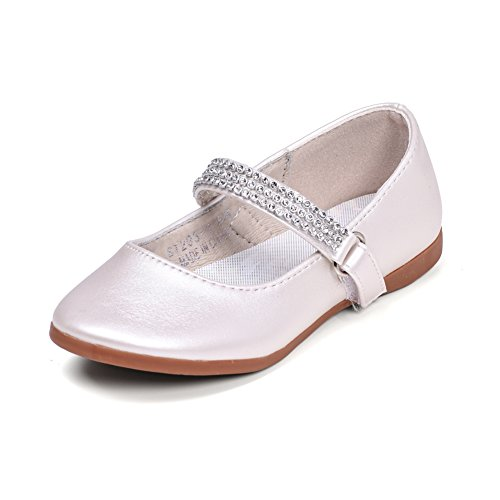 STELLE Girls Mary Jane Shoes Slip-on Party Dress Flat for Kids Toddler