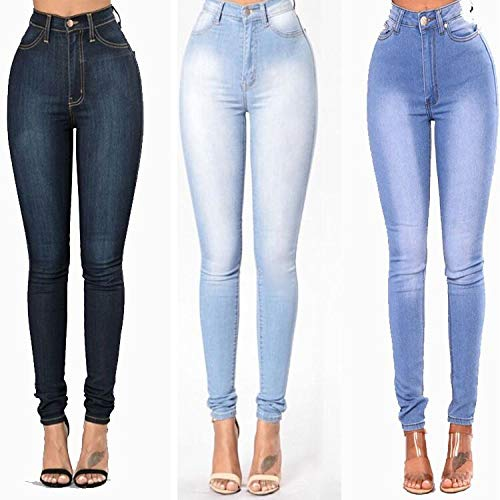 Confortable Femme Jeans Stretch en Coton Pantalon ADEMI Blue3 Jeans gq74wp0