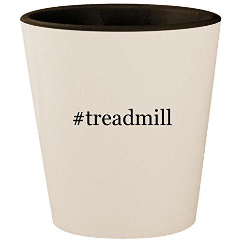 #treadmill - Hashtag White Outer & Black Inner Ceramic 1.5oz Shot Glass